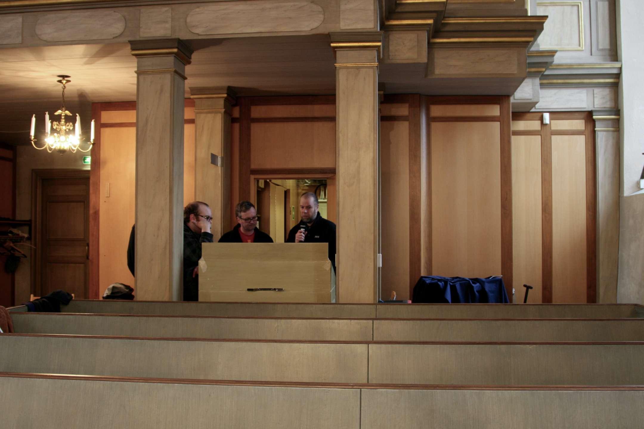 Undervisning av kyrkans personal i ljudanläggningens handhavande..