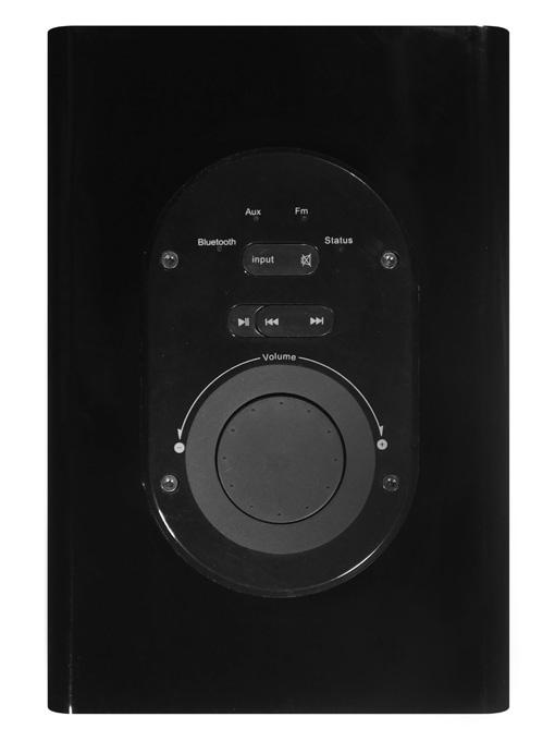 Med kontrollpanelen styrs ljudvolym och ovansidan